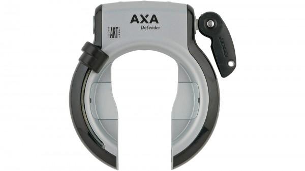 "AXA Rahmenschloss ""Defender""; SB-verpackt, Befestigung am gelochten Hinterbau, nicht abziehbarer Schlüssel, mit Plug-In Funktion; ART**-Zertifizierung"